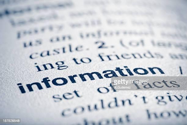 De información