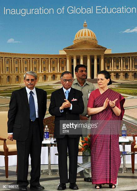 Infosys CEO K Gopal Krishna Infosys Chief Mentor N R Narayan Murthy and government coalition United Progressive Alliance Chairman Sonia Gandhi...