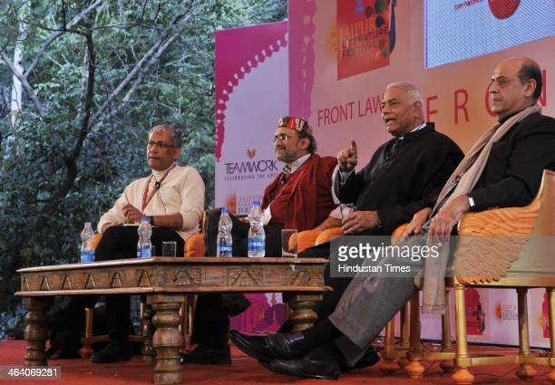 Infosys Independent Director Ravi Venkatesan Journalist Paranjoy Guha Thakurta BJP leader Yashwant Sinha and former Chief Election Commissioner of...