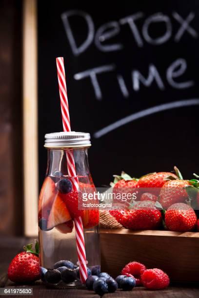 Infused berries water detox drink