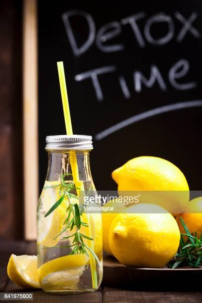 Infused lemon water detox drink
