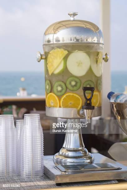 Infused Water with Fresh Kiwi, Orange, Apple and Pineapple
