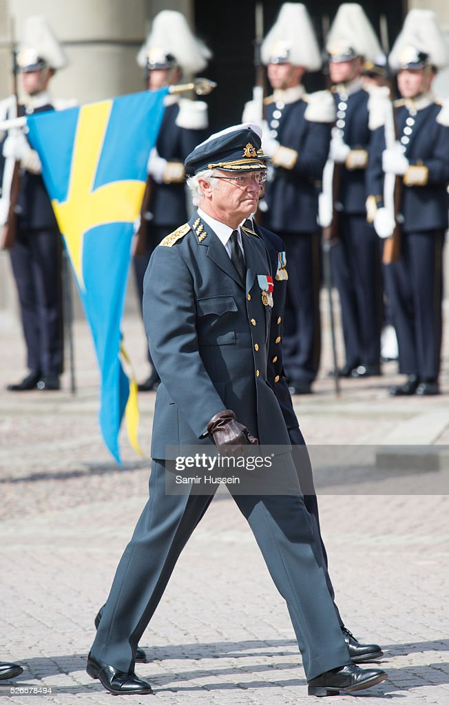 ing Carl Gustaf of Sweden attends the celebrations of the Swedish Armed Forces for the 70th birthday of King Carl Gustaf of Sweden on April 30, 2016 in Stockholm, Sweden.