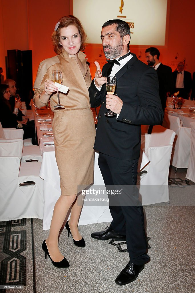 Inga Busch and Erdal Yildiz attend the Moet & Chandon Grand Scores 2016 at Hotel De Rome on February 6, 2016 in Berlin, Germany.