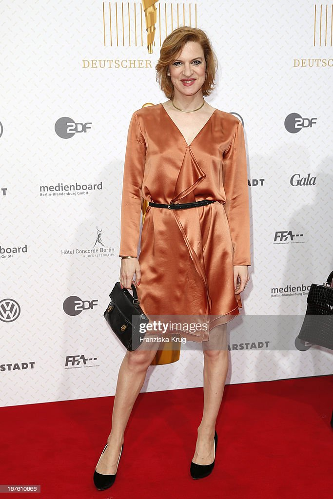 Inga Busch attends the Lola German Film Award 2013 at Friedrichstadt-Palast on April 26, 2013 in Berlin, Germany.