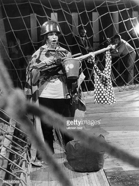 Inge Brandenburg Singer Jazz Actress Germany as a soldiers mother in the theater play 'Pinkville' by George Tabori
