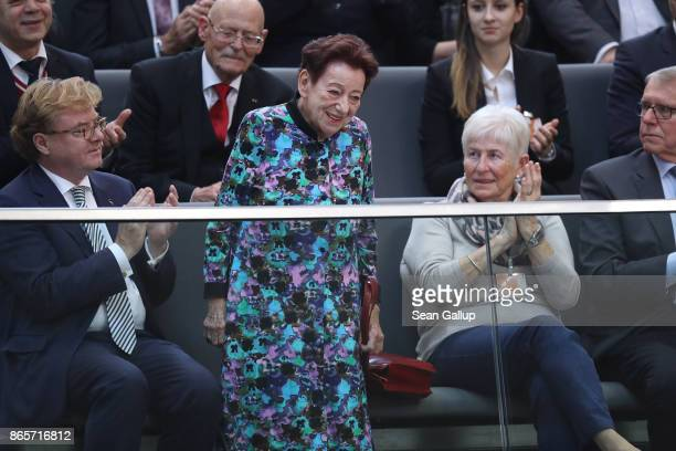 Inge Deutschkron who is Jewish and survived the Holocaust be hiding successfully in Berlin during World War II attends the opening session of the new...