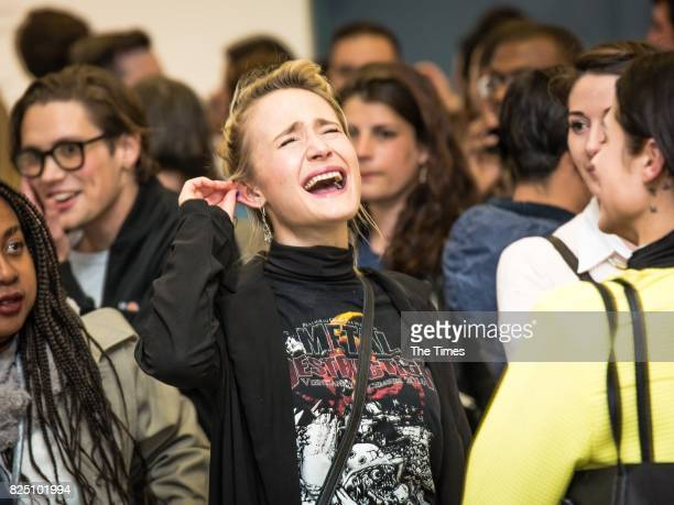 Inge Raubenheimer during the opening of the Andy Warhol exhibition at the Wits Art Museum on July 26 2017 in Johannesburg South Africa The exhibition...