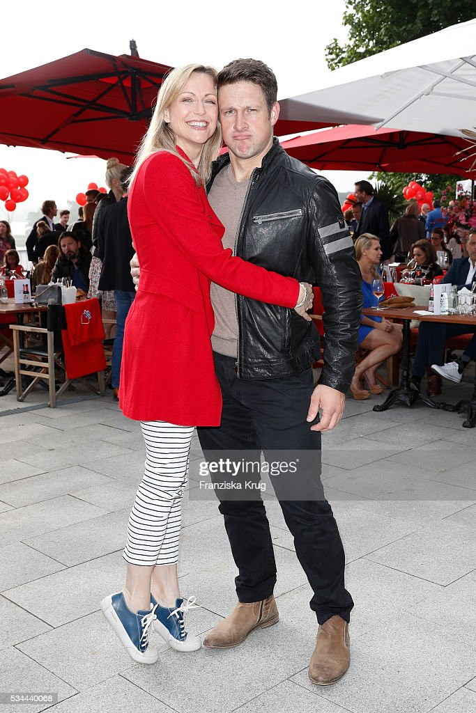 Inge Steiner and Matthias Steiner during the 'Ein Herz fuer Kinder' summer party at Wannseeterrassen on May 26, 2016 in Berlin, Germany.
