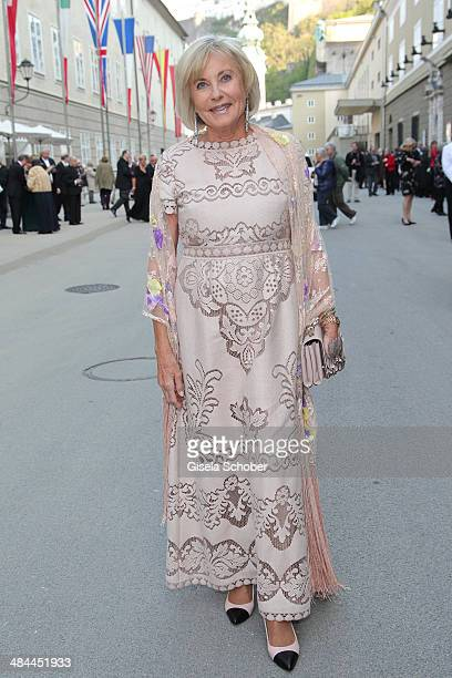 Inge WredeLanz attends the opening of the easter festival 2014 on April 12 2014 in Salzburg Austria