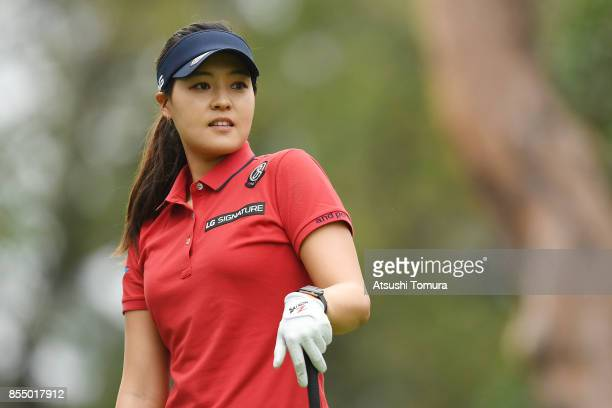 InGee Chun of South Korea looks on during the first round of Japan Women's Open 2017 at the Abiko Golf Club on September 28 2017 in Abiko Chiba Japan