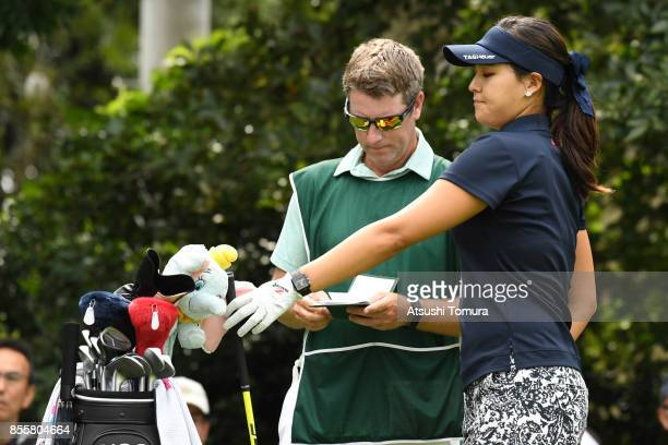 InGee Chun of South Korea looks on during the third round of Japan Women's Open 2017 at the Abiko Golf Club on September 30 2017 in Abiko Chiba Japan