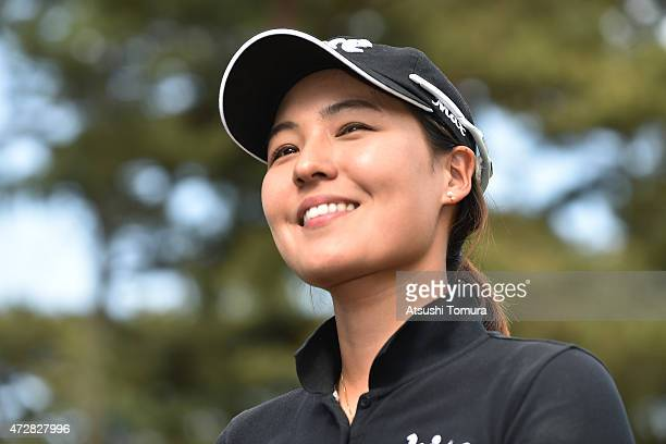 InGee Chun of South Korea smiles after winning the World Ladies Championship Salonpas Cup at the Ibaraki Golf Club on May 10 2015 in Tsukubamirai...