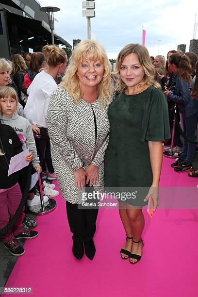 Inger Nilsson and Annett Louisan during the late night shopping at Designer Outlet Soltau on August 5 2016 in Soltau Germany