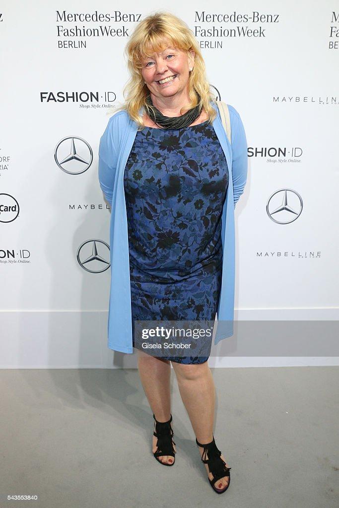 Inger Nilsson attends the Minx by Eva Lutz show during the MercedesBenz Fashion Week Berlin Spring/Summer 2017 at Erika Hess Eisstadion on June 29...