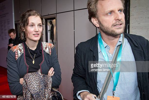 Ingo Haeb and Vicky Krieps attend the 'Das Zimmermaedchen Lynn' premiere as part of Filmfest Muenchen at Arri Kino on July 2 2014 in Munich Germany