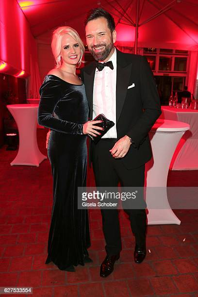 Ingo Nommsen and his girlfriend Sarah Knappik during the Ein Herz Fuer Kinder after show party at Borchardt Restaurant on December 3 2016 in Berlin...