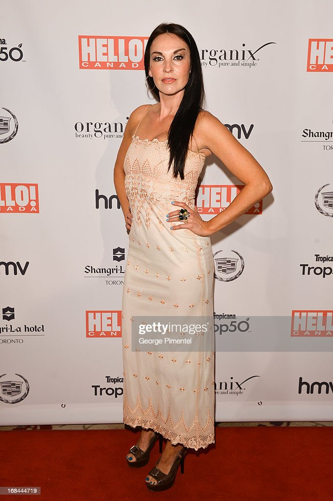 Ingra Cadranel arrives at Hello! Canada gala celebrating Canada's 50 most beautifulÊat Shangri-La Hotel on May 9, 2013 in Toronto, Canada.