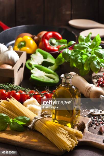 Ingredient for cooking italian spaguetti