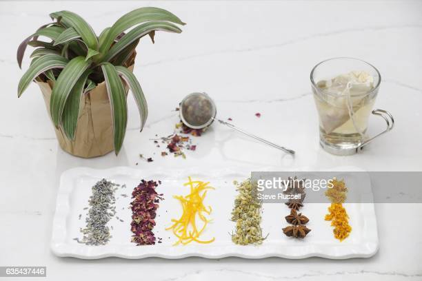 TORONTO ON FEBRUARY 7 Ingredients for blending your own tea include lavender rose leaves orange camomile star anise and turmeric