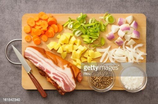 Ingredients for cooking a soup