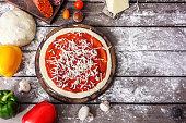 Preparing Pizza for Roasting