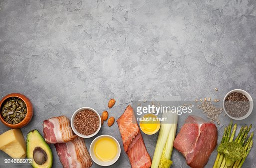 Ingredients for ketogenic diet : Stock Photo