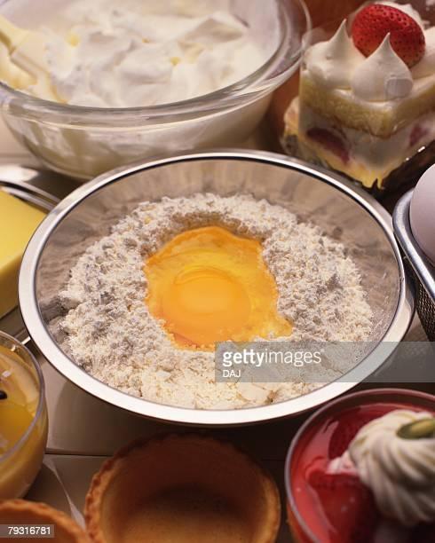 Ingredients for Making Cake, Close Up