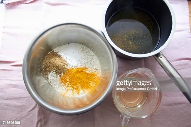 Ingredients for making pasta dough