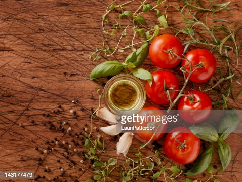 Ingredients for Making Spaghetti Sauce : Stock Photo