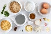 Ingredients for preparing vegetarian kedgeree