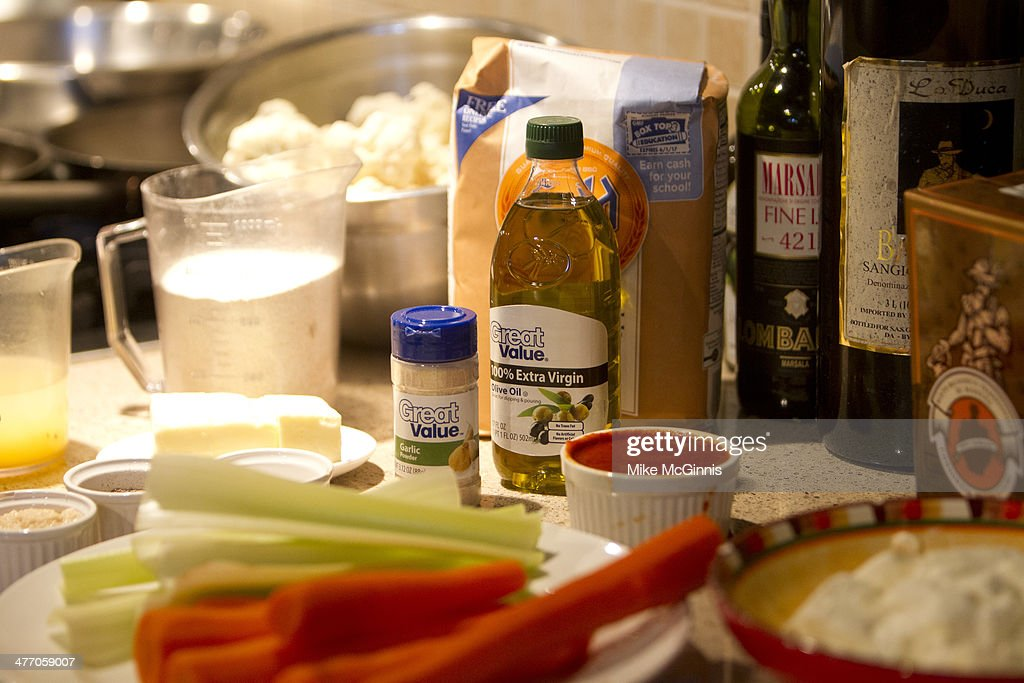 Ingredients for the Milwaukee Recipe Refresh Challenge at Il Mito Restaurant on March 06, 2014 in Wauwatosa, Arizona.