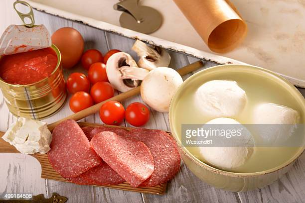 Ingredients of low carb pizza