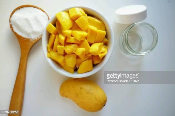 Ingredients of mango jam