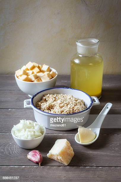 Ingredients of swede risotto