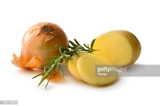 Ingrédients: Pommes de terre, oignons et de romarin