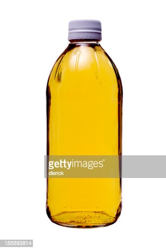 Ingredients Vinegar in Glass Bottle : Stock Photo