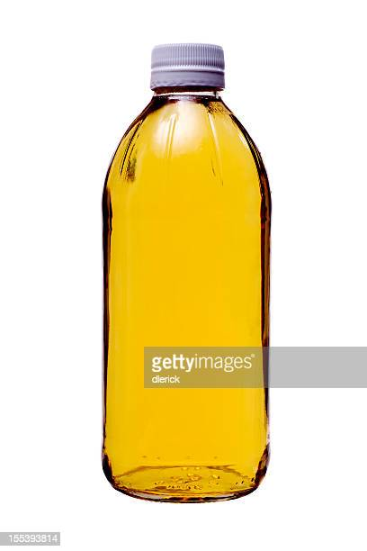 Ingredients Vinegar in Glass Bottle
