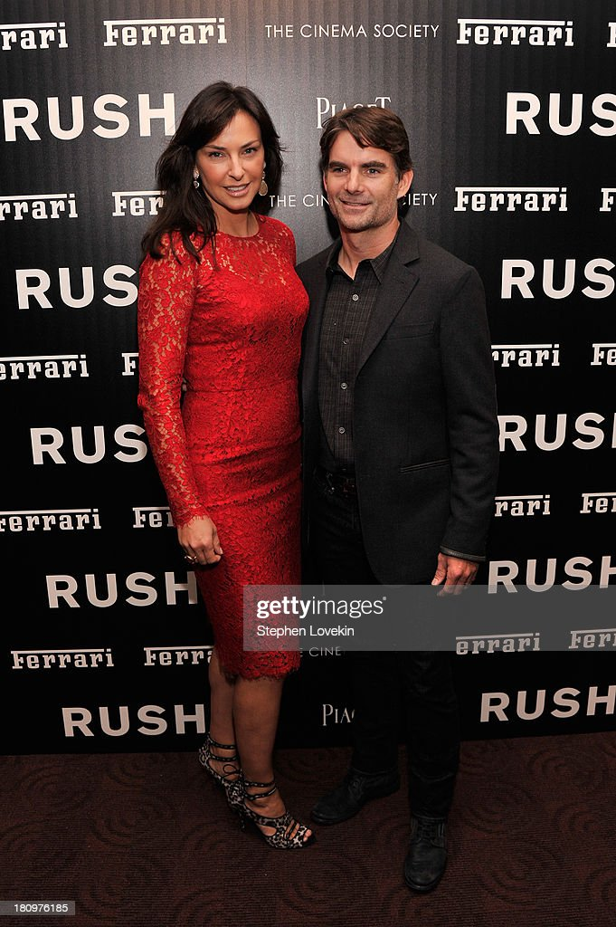 Ingrid and Jeff Gordon attends the Ferrari and The Cinema Society Screening of 'Rush' at Chelsea Clearview Cinemas on September 18, 2013 in New York City.