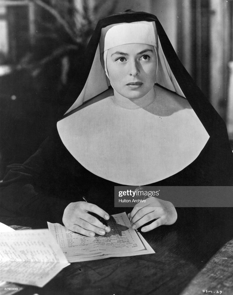 Ingrid Bergman (1915 - 1982) as Sister Benedict in a scene from 'The Bells Of St Mary's', directed by Leo McCarey.