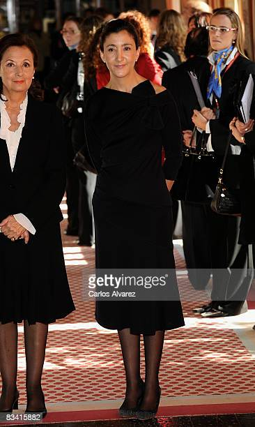 Ingrid Betancourt arrives for an audence with Prince Felipe of Spain before Prince of Asturias Awards ceremony on October 24 2008 at Hotel...