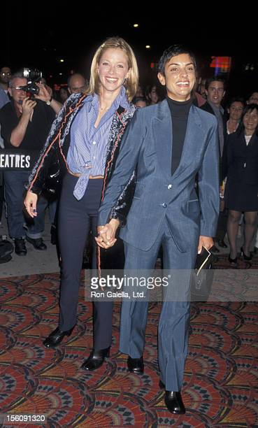 Ingrid Casares and Lauren Holly attending the premiere party for 'Boogie Nights' on October 8 1997 at LIFE Building in New York City New York