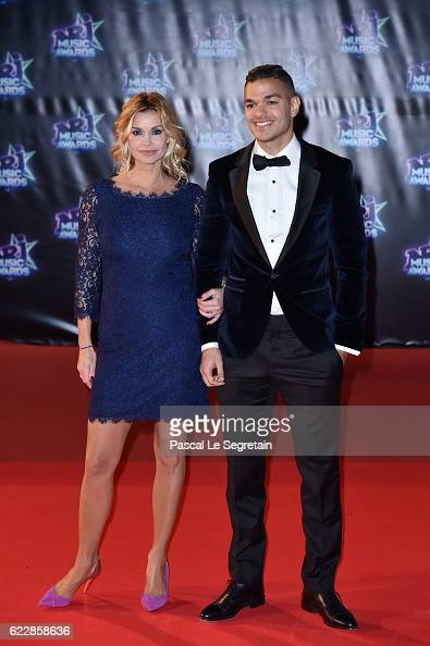 Ingrid Chauvin and Hatem Ben Arfa attend the 18th NRJ Music Awards at Palais des Festivals on November 12 2016 in Cannes France