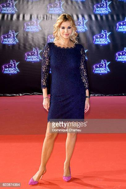 Ingrid Chauvin attends the18th NRJ Music Awards Red Carpet Arrivals at Palais des Festivals on November 12 2016 in Cannes France