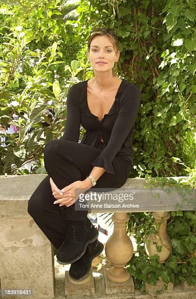 Ingrid Chauvin during SaintTropez Fiction Television Festival 2001 Ingrid Chauvin Laurent Hennequin Portraits at Place des Lices in SaintTropez France