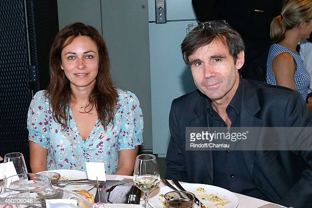 Ingrid Chevanne and journalist David Pujadas pose at France Television french chanels studio whyle the Roland Garros French Tennis Open 2014 Day 13...