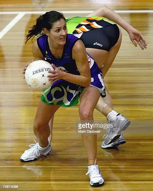 Ingrid Dick of the Phoenix beats her opponent during the week nine Commonwealth Bank Trophy match between the Melbourne Phoenix and the Perth Orioles...