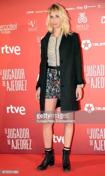 Ingrid Garcia Jonsson attend the 'El Jugador de Ajedrez' premiere at Gran Via cinema on April 25 2017 in Madrid Spain