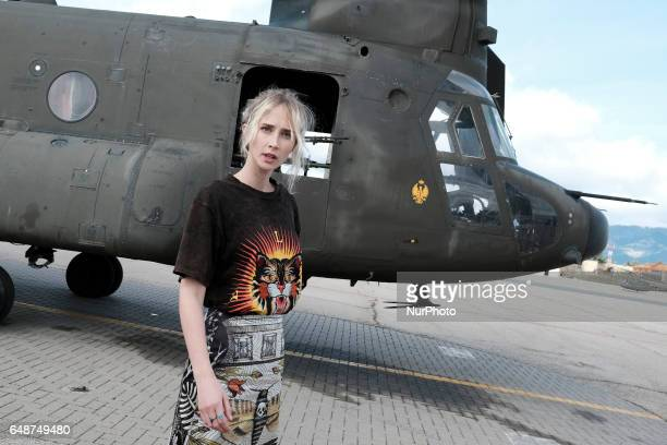 Ingrid Garcia Jonsson attends 'Zona Hostil' photocall at the FAMET Military Base on March 6 2017 in Colmenar Viejo Spain