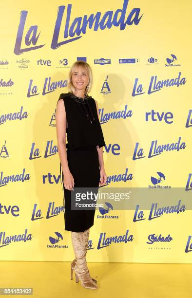 Ingrid GarciaJonsson attends the 'La Llamada' premiere yellow carpet at the Capitol cinema on September 26 2017 in Madrid Spain